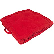 Cojín de suelo de algodón PANAMA rojo