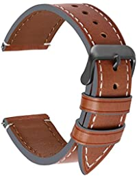 Fullmosa Arm Bands in 4 Colours – Wax Series Genuine Leather Replacement Watch Strap/Wactch Bracelet/Replacement for 18 mm, 20 mm, 22 mm, 24 mm, 22mm