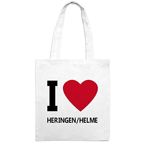 Jutebeutel mit Stadtnamen Heringen/Helme - Motiv