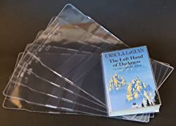 10x Clear Plastic Paperback Book Covers 200mm