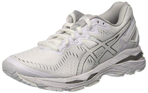 Asics Damen Gel Kayano 23 Traillaufschuhe, Elfenbein (White/Snow/Silver), 41.5 - Kayano Frauen Schuhe Asics