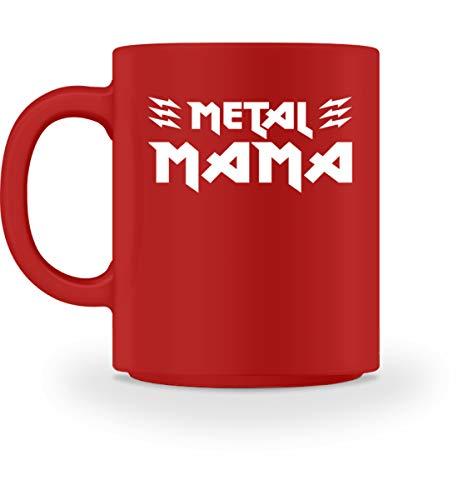 Metal Mama T-Shirt/Geschenk für Muttertag, Geburtstag, Weihnachten/Heavy Metal Fans - Tasse -M-Rot -