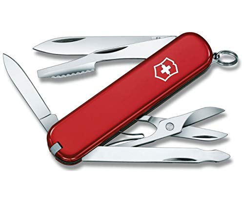 Victorinox Executive Klein Taschenmesser, 10 Funktionen, Orangenschäler, Nagelfeile, rot -