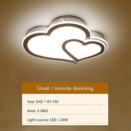 LED Acryl Deckenleuchte, Kreative Herzförmige Deckenleuchte, Einbauleuchte, 220V, Dimmbar, Für Wohnzimmer, Schlafzimmer, Flur, Küche, Bad, Bar (Small) -