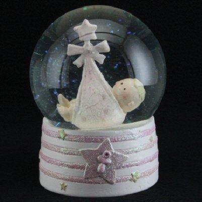 Gisela Graham Rose bébé Paillettes dôme