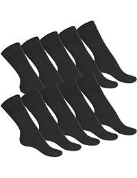 10 Paar original celodoro Herren Business Socken schwarz 100% Baumwolle - Handgekettelt ohne Naht - verschiedene Gr. 39-50 zur Auswahl