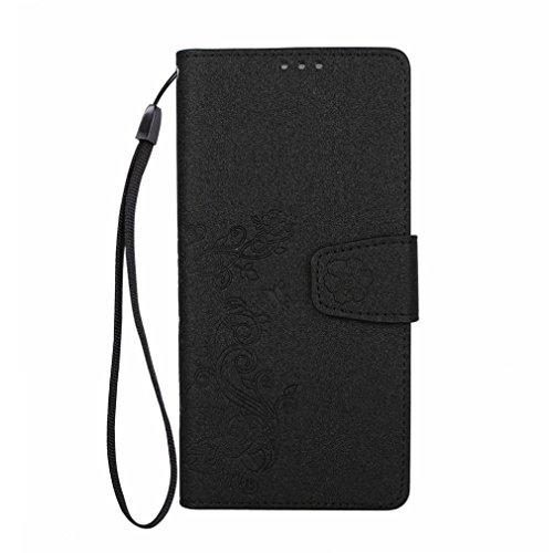 Für Samsung Note 8stilvolle Layered Leder Tasche, Y56Ultra Slim Leder Flip Schutzhülle für Samsung Galaxy Note 8, schwarz (Layered Tiere)