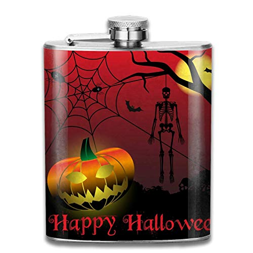7oz Halloween Scary Skeleton Edelstahl Groomsman, Brautjungfer Flasche
