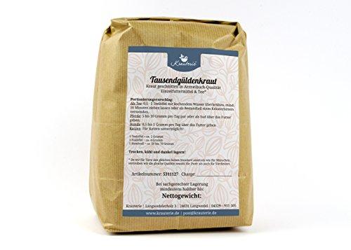 Krauterie Tausendgüldenkraut Geschnitten in Sehr Hochwertiger Qualität, Frei von jeglichen Zusätzen, als Tee Oder für Pferde und Hunde (Centaurium erythraea) – 500 g