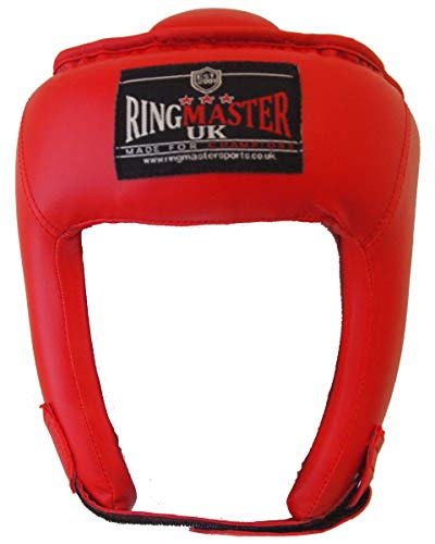 Niños RingMasterUK Open Face-Casco protector Gear protección de boxeo Kickboxing artes marciales...