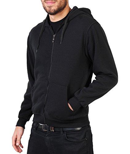 Loungewear-kollektion (Herren Kapuzen Jacke Sweatshirt_(7916-BLK-XL))