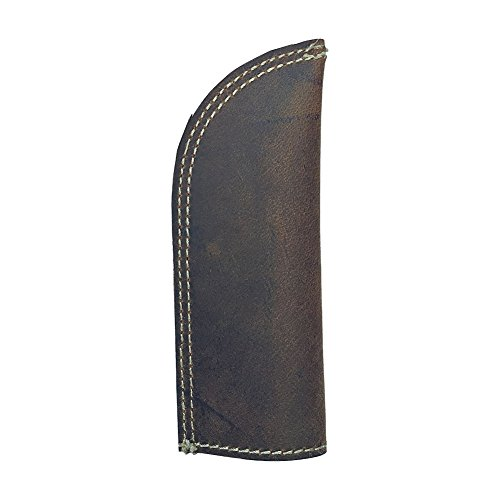 100% Crazy Horse Leather Long Handle Pan Pot Holder Cover , Hot Handle Holder With Double Layered, Double Stitched and Handmade Quality (HGB01)