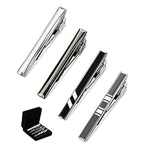 Milacolato Stück modisch Krawatte Krawattennadel Tie Bar Clips Set – Business Klassisch Tie Clip Geschenkset, Vatertag
