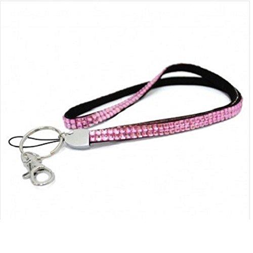 Hals Strass Kristall Lanyard ID Card Badge Holder Pink UK Schnelle Lieferung
