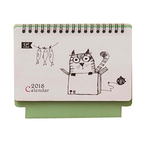 Monatliche Schreibtisch Pad Kalender, 2018 - 2018 Jahre, Lehrer Kalender, Katze (Schreibtisch Katze-kalender)