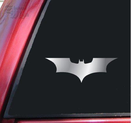 Aufkleber Batman Begins / The Dark Knight Vinyl Decal Sticker - Shiny Chrome (Batman-laptop-aufkleber)