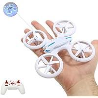 """Smart-Planet® hochwertige kleine mini Drohne / Drone mit auffälliger LED Beleuchtung (17,6 cm) / Quadrocopter sehr stabiler Flug --- """"inkl. 2,4 GHz / 2.4 GHz Funkfernbedienung - Komplettpaket - inkl. Akku - Ladegerät - 6 Achsen Gyro - 4 Kanal - Looping auf Knopfdruck etc. – LED"""