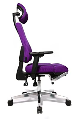 Topstar YO190W77X Bürodrehstuhl Yoga-Sitness 110 inklusive Armlehnen und Kopfstütze / Bezug lila