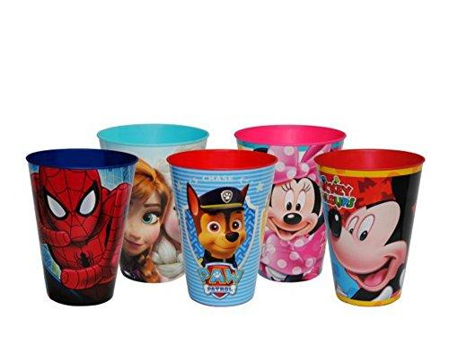 """Lote de 25 Vasos de Pasta Infantiles """"Disney"""" Surtidos. Vajillas y Cuberterías. (12 cm.)(430 ml.). Juguetes y Regalos Baratos para Fiestas de Cumpleaños, Bodas, Bautizos, Comuniones y Eventos."""