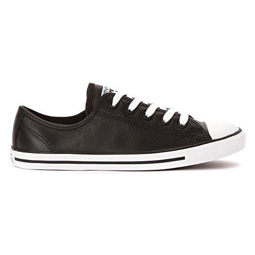 Converse  Dainty Leath Ox, Sneakers Basses femme Black