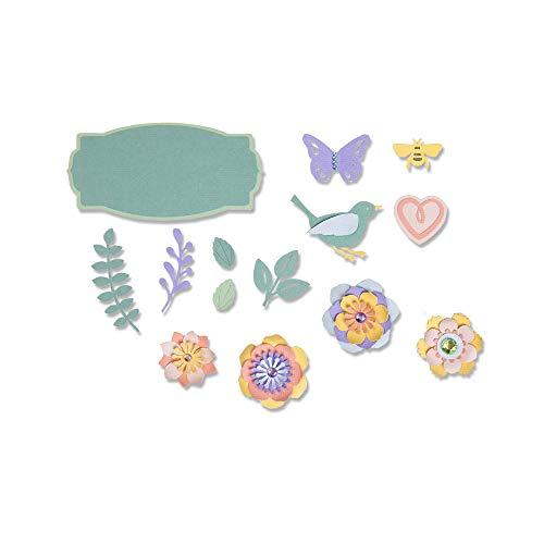 Sizzix Cose di Primavera Fustella, Multicolore, Taglia Unica