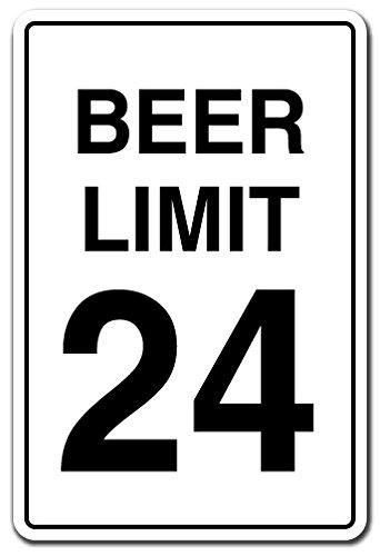 SignMission Bier Limit 24Schild Alkohol Trinken Drunk Speed-| | 50,8cm Hoch