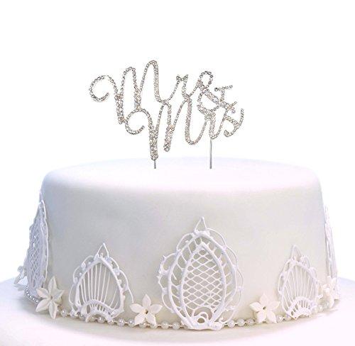 Tortenaufsatz, twinkle DIY Glitzer Strass Love Kuchen dekorieren Form Kuchen und Schokolade Dekorieren - Mr & Mrs -