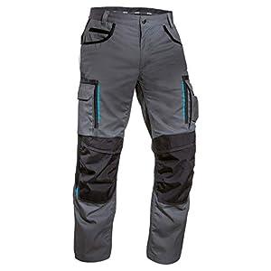 Uvex Tune-up 8909 Pantalones de Trabajo con Cordura Resistente a la Abrasión   con Rodilleras   con Muchos Bolsillos Laterales   de Color Gris-Negro-Azul-Verde