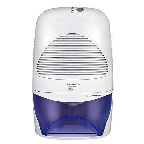 Luftentfeuchter mit 2000mL Wassertank Großvolumige Luftentfeuchter Air Dryer Luftreinigungsfunktion Feuchtigkeitsentzugfähigkeit (600ml pro Tag) für Zimmer, Schrank, Büro, Keller, Wandschrank, Badezimmer