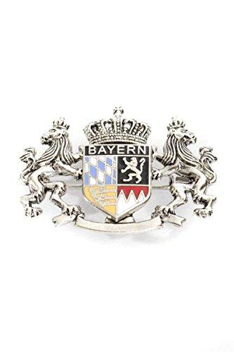 Ludwig und Therese Trachten Anstecknadel Löwenwappen silber 4114