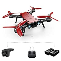 MJX Bugs 8 Pro Qinyin Drone Angle/Acro 3D Flips Racing High Speed Brushless RC Quadcopter With C5830 5.8G FPV 720P Camera + D43 4.3 LCD RX Display + Two Battery