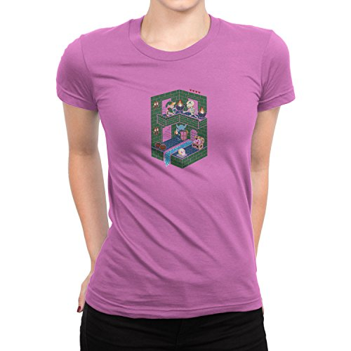 Planet Nerd - Isometric Adventures - Damen T-Shirt Rosa