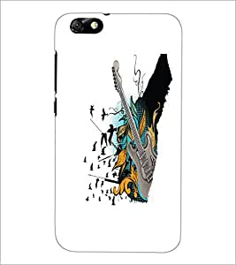 PrintDhaba Guitar D-5534 Back Case Cover for HUAWEI HONOR 4X (Multi-Coloured)