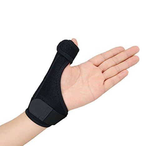 gelible Daumen- und Handgelenkbandage, mit Schiene, Unterstützung, Daumenschiene, Stabilisator für Arthritis, Sehnenentzündungen, Verstauchten Schmerzsymptome, Einheitsgröße, Schwarz - für beide Hände (Arthritis Daumen-unterstützung)