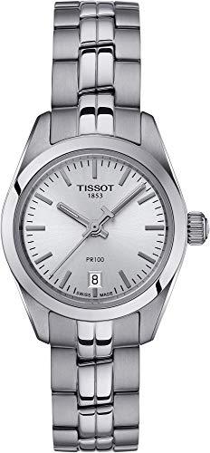 TISSOT Damen Analog Quarz Uhr mit Edelstahl Armband T1010101103100 (Tissot Uhr Damen Classic)