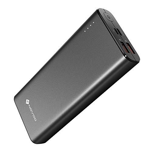 NOVOO 20000mAh Powerbank 3 Ausgänge USB C 18W Power Delivery & 2 Fast Charge USB-A Ports Power Bank für Handy iPhone 6 7 X 8 Plus XS XR Samsung Galaxy S8 S9 Huawei P20 iPad Switch 20000