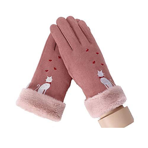 (Beydodo Winterhandschuhe zum Radfahren Rosa Fahrradhandschuhe Winter Handschuhe Winter Sport)