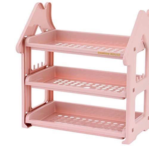 ZHAS Kosmetisches Aufbewahrungsbox-Badezimmer-Kosmetik-Küchen-Gestell/dreistufiges Tischplattenspeicher-Gestell-Ausgangsvollenden-Gestell (Küche Kosmetik)