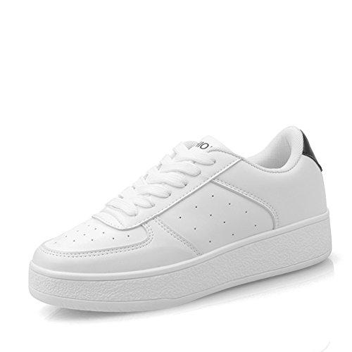 Sport et chaussures de loisirs/Chaussure fond épais de dames/chaussures blanc petites femelles/Ladies Shoes C