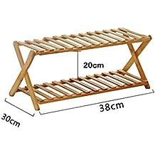 Mode Ideen Schuh Rack 2 Tier Faltbar Einfach Bambus Schuh Schrank Organizer  Regale Dekoration