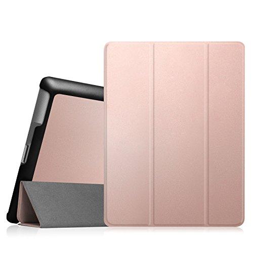 Fintie Apple iPad 2/3/4 Hülle Case - Ultradünne Superleicht Schutzhülle SlimShell Cover Tasche Etui mit Auto Schlaf / Wach und Standfunktion für Apple iPad 2 / iPad 3 / iPad 4 Retina, Roségold