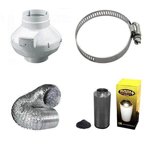 Kit extracteur Max + Filtre charbon + Tube flexible 10 cm + offert