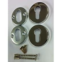 acera inoxidable pulido cerradura escudos -escutcheons - Paquete de 2 x 50mm - Código BU030