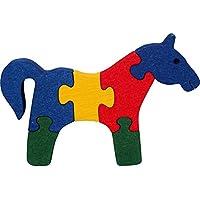 Puzzles 3D SPYRA. Puzzles cheval 3D. Jouer et décorer. Hêtre massif. Couleurs naturelles. Fabriqué en Europe