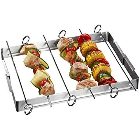 Gefu ge89279Rack a Spiedini Barbecue acciaio inox 34x 33x 3,5cm