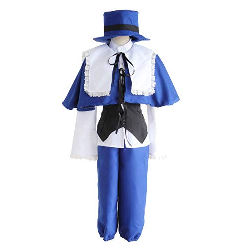Blue Santa Kostüm - DXYQT Anime Cosplay Kostüme Halloween Uniform Party Full Set Welt Buch Tag Kostüme für Kinder,Blue-S