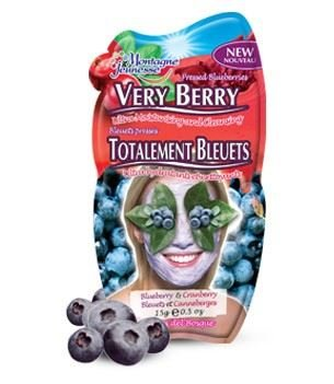 3 Sachets of Montagne Jeunesse 7th Heaven Pressed Blueberries Very Berry Ultra Moisturising and Cleansing Face Mask 15g for Combination