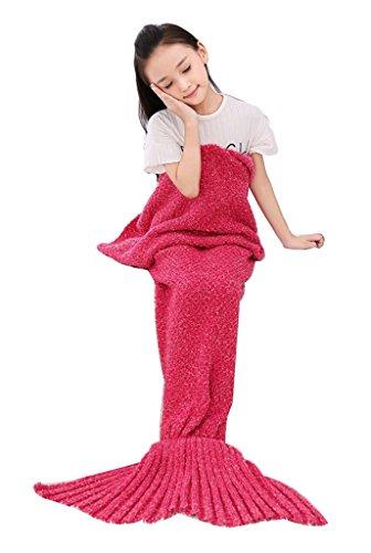 Fortuning's JDS Kinder und Erwachsene Schleife Garn Meerjungfrau Schwanz Decke Handcraft Schlafsack