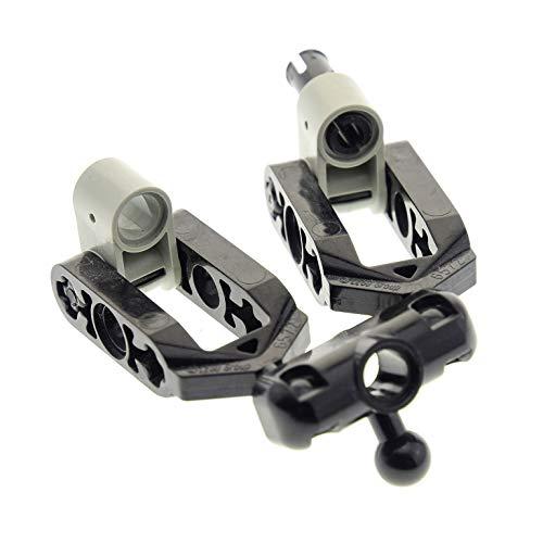 1 x Lego Technic Rad Achs Aufhängung Stein schwarz klein mit Kugelgelenk Gabel Technik Lenkung für Set 8457 8445 8081 21104 6572 6571 ()