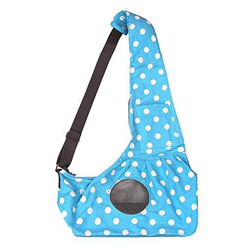 Charmante und hübsche Haustierkleidung Tragetasche aus Canvas Canvas Sling Umhängetasche Komfortable Hundekatze-Reisetasche Geeignet für Frauen und Kinder (Tragetaschen Mäntel Für Frauen)